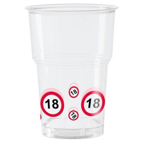 Traffic Sign 18th Party Cups 10s Birthday Tableware Table Disposables